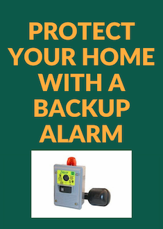 Protect your home with a backup alarm